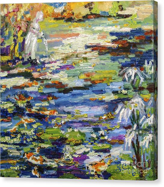 By The Lily Pond Canvas Print