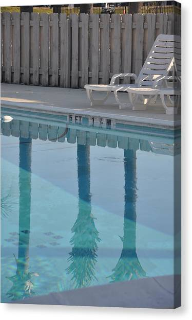 By The Pool Canvas Print