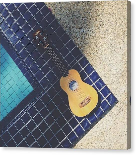 Ukuleles Canvas Print - By The Sea, By The Pool, The Wind And by Aklili Zack