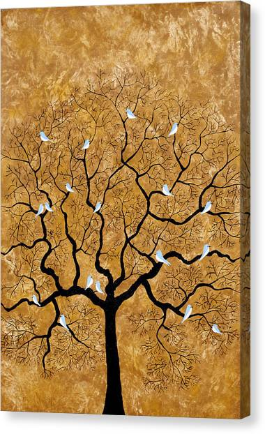 By The Tree Canvas Print
