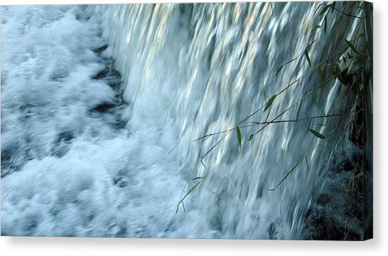 By The Weir Dam Canvas Print