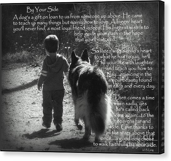 By Your Side Paw Print Canvas Print