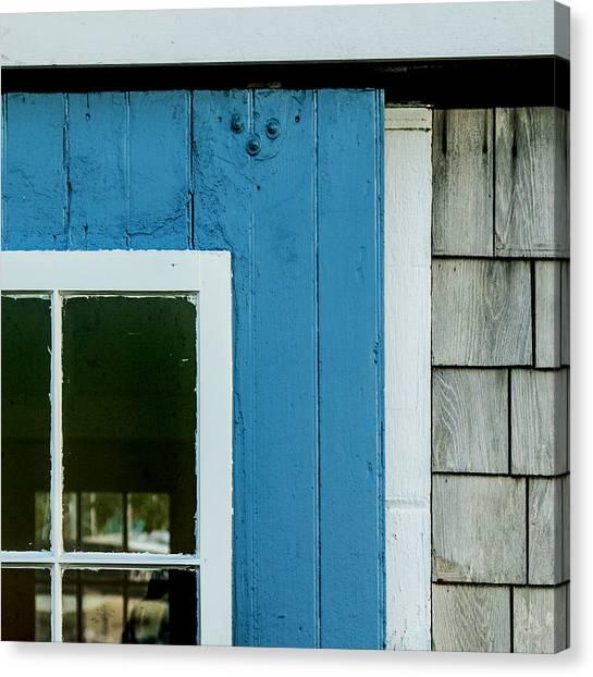 Old Door In Blue Canvas Print