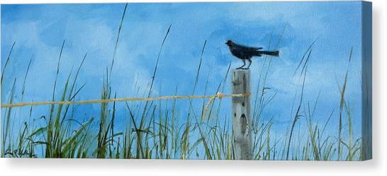 Bye Bye Black Bird Canvas Print