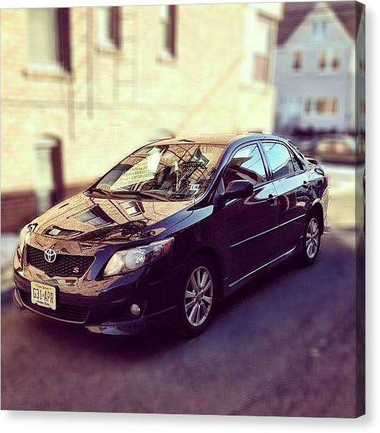 Toyota Canvas Print - Bye Bye Dear Car! Thank You For All The by Sori Marino