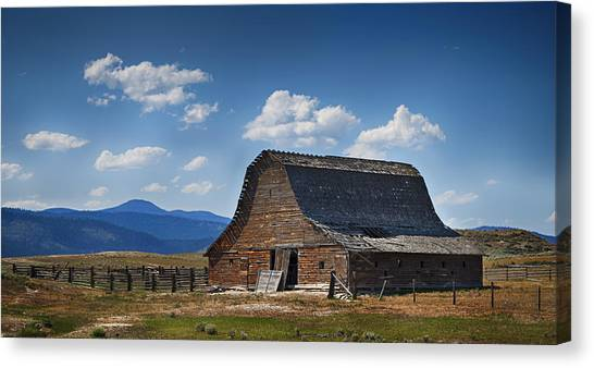 Canvas Print featuring the photograph Bygone Days Barn by Mary Jo Allen