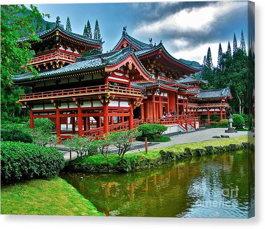 Byodo-in Temple #0026 Canvas Print