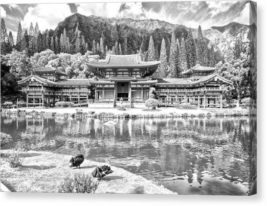 Jujitsu Canvas Print - Byodo-in Temple by Flat Owl Photo