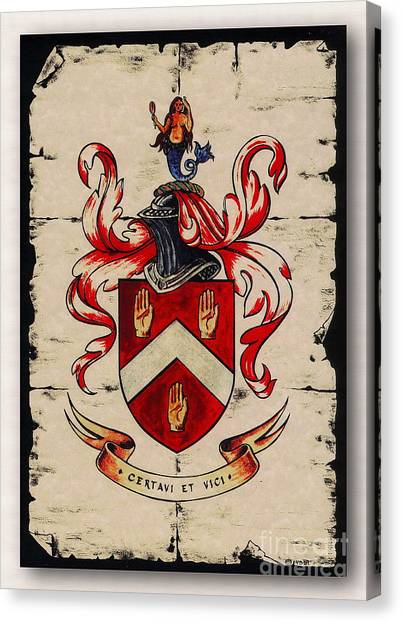 Byrne Coat Of Arms Canvas Print