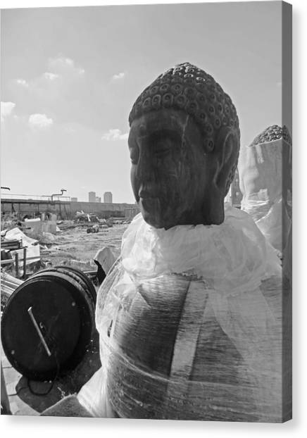 Bywater Buddha In New Orleans Canvas Print