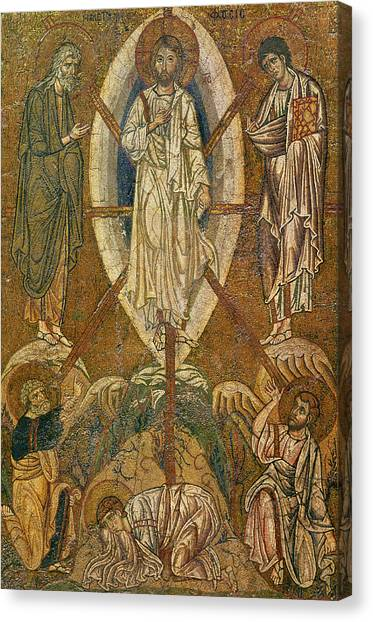 Byzantine Art Canvas Print - Byzantine Icon Depicting The Transfiguration by Byzantine School