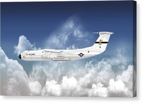 C-141a Starlifter Canvas Print by Arthur Eggers