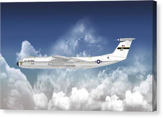 C-141b Starlifter Canvas Print by Arthur Eggers