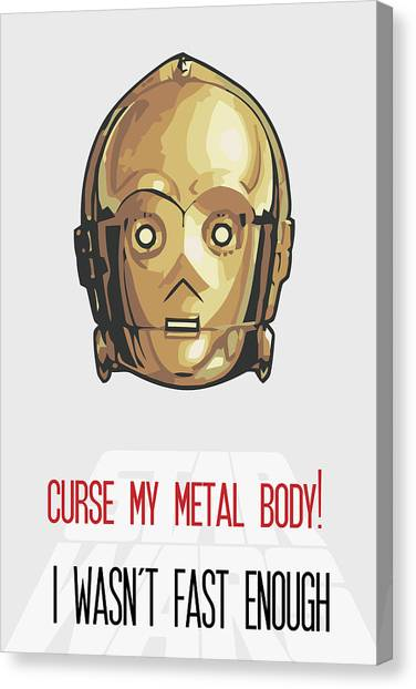 C-3po Canvas Print - C-3po Star Wars Poster Art by Florian Rodarte