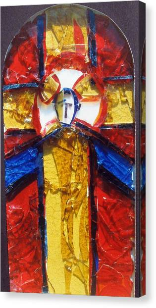 C01.  Producing Stained Glass Murals - Sample For Client Canvas Print