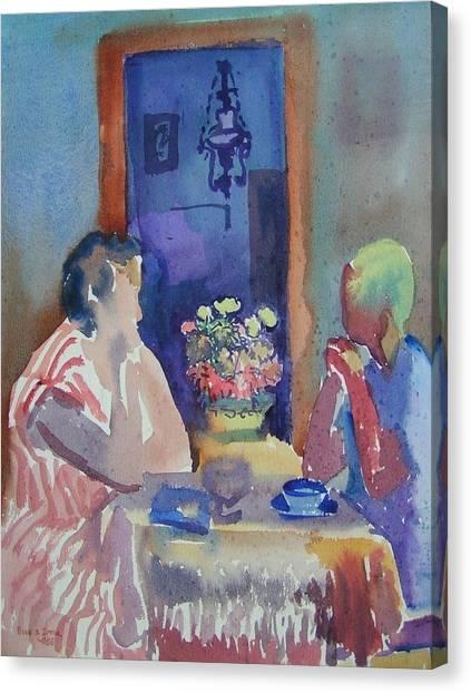 C06. Tea Time Canvas Print