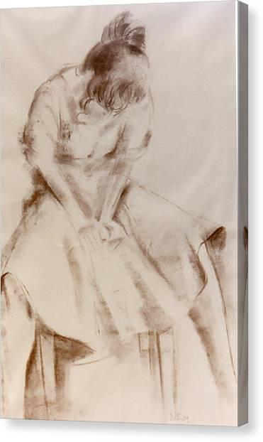 C12. Dancer Resting Canvas Print