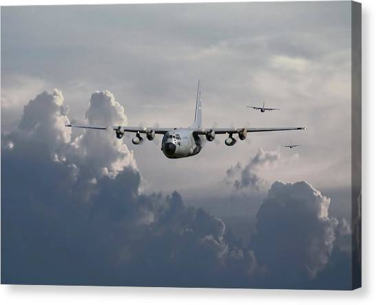 C130 Hecules    In Trail Canvas Print