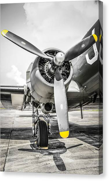 C47 Dakota Radial Canvas Print