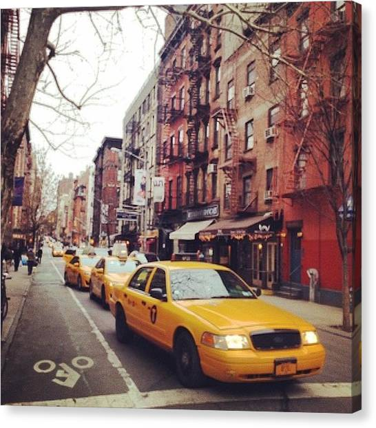 Street Scenes Canvas Print - Soho Cab  by Picture This Photography