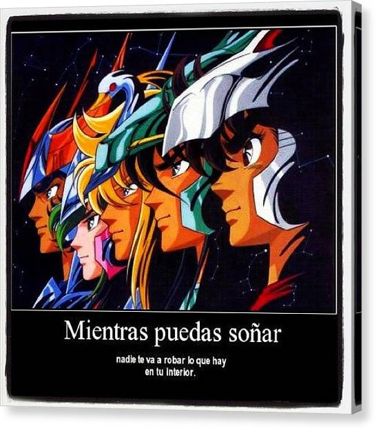 Tv Shows Canvas Print - Caballeros Del Zodiaco by Oscar Lopez
