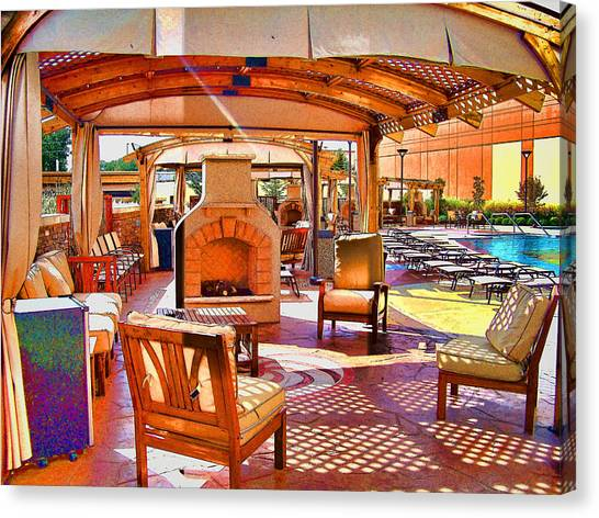 Canopy Canvas Print - Cabana by Julie Grace