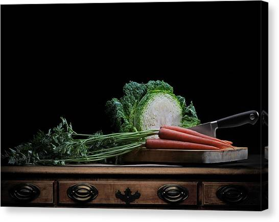 Cabbage And Carrots Canvas Print