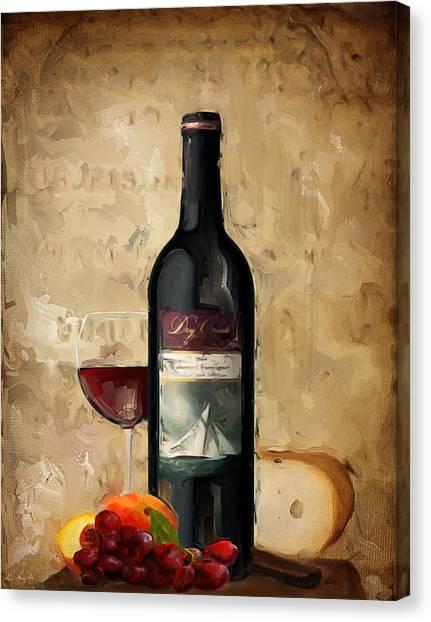 Steak Canvas Print - Cabernet Iv by Lourry Legarde