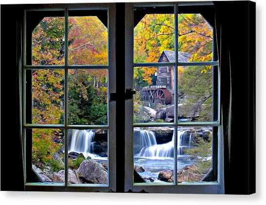 Canvas Print featuring the photograph Cabin 11 At Babcock by Williams-Cairns Photography LLC