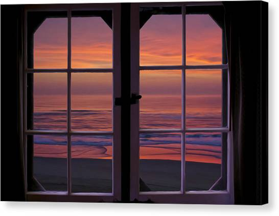 Cabin 11 At The Outer Banks Canvas Print by Williams-Cairns Photography LLC