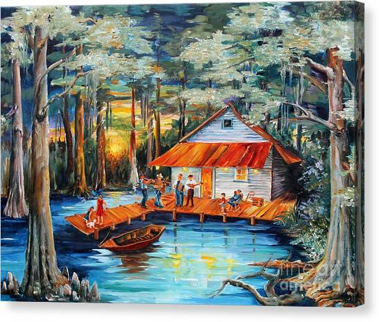 Swamps Canvas Print - Cabin In The Swamp by Diane Millsap