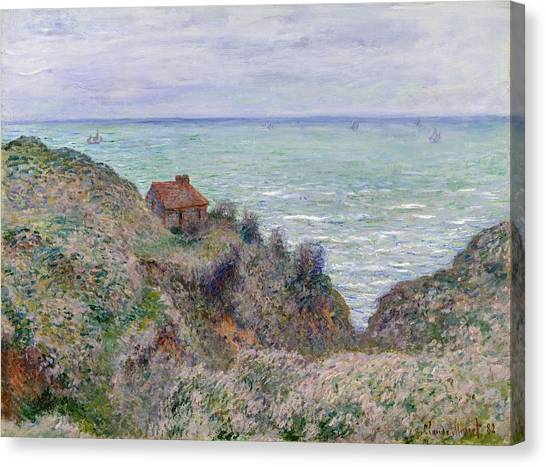 The Metropolitan Museum Of Art Canvas Print - Cabin Of The Customs Watch by Claude Monet
