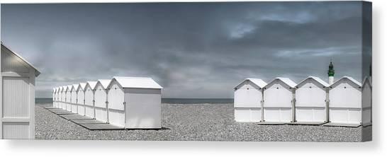Beach Cabin Canvas Print - Cabins Beach by Gilbert Claes