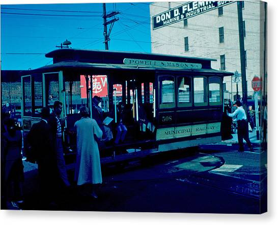 Cable Car 1955 Canvas Print by Cumberland Warden