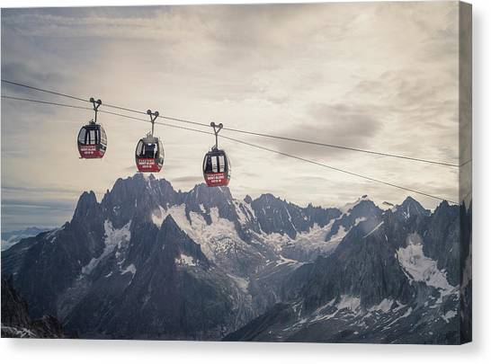 Cable Car In The Alps Canvas Print by Buena Vista Images