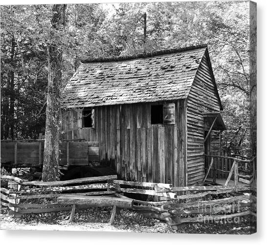 Cable Grist Mill 1 Canvas Print by Mel Steinhauer