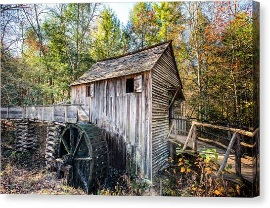 Cable Grist Mill At Cades Cove Canvas Print