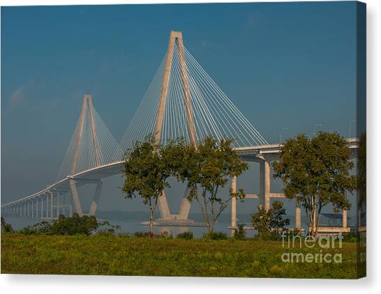 Cable Stayed Bridge Canvas Print
