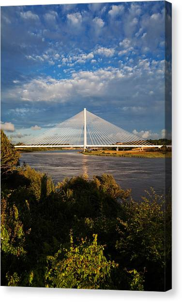 Waterford Canvas Print - Cable-stayed Bridge Over The River Suir by Panoramic Images