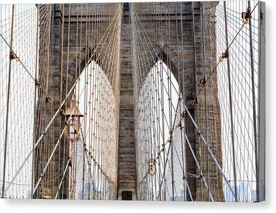Brooklyn Bridge Canvas Print - Cabled Archways by Francois Roughol