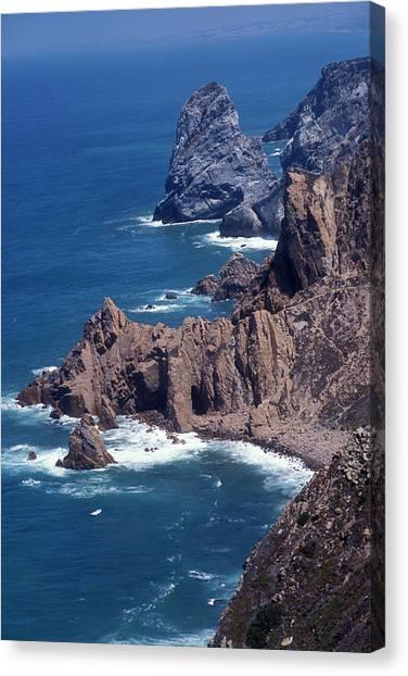 Beach Cliffs Canvas Print - Cabo Da Roca, The Furthest West Point by Scott Warren