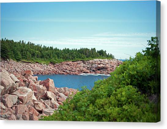 Cabot Trail Coastline Canvas Print by Andalib