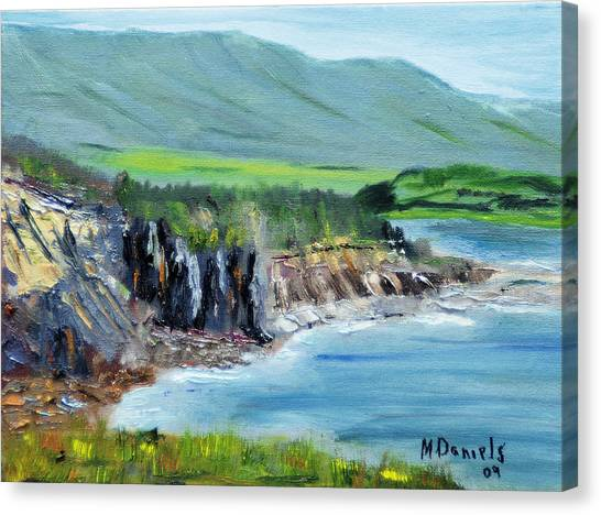 Cabot Trail Coastline Canvas Print