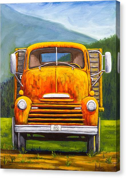 Cabover Truck Canvas Print