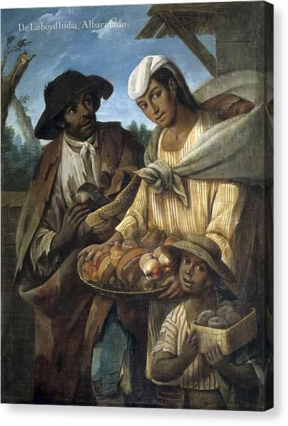 Miguel Cabrera Canvas Print - Cabrera, Miguel 1695-1768. De Lobo Y De by Everett