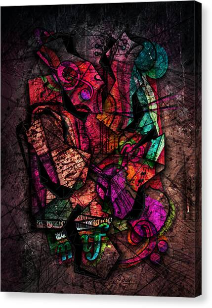 Cellos Canvas Print - Cacophony In Z Minor by Gary Bodnar