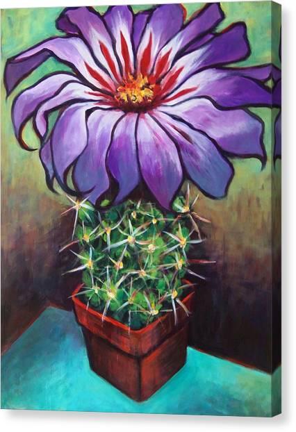 Cactus Flower Canvas Print