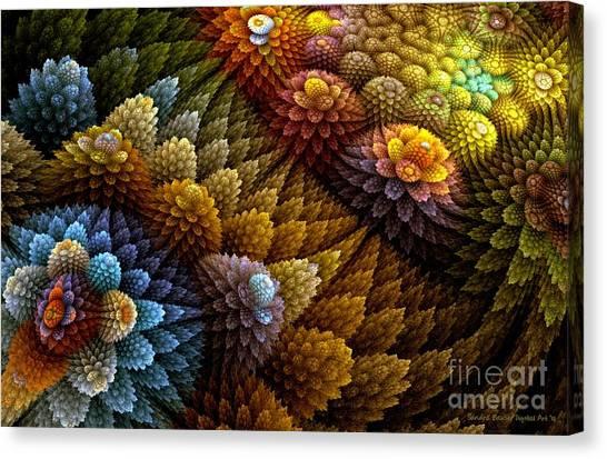 Cactus Garden Canvas Print by Sandra Bauser Digital Art