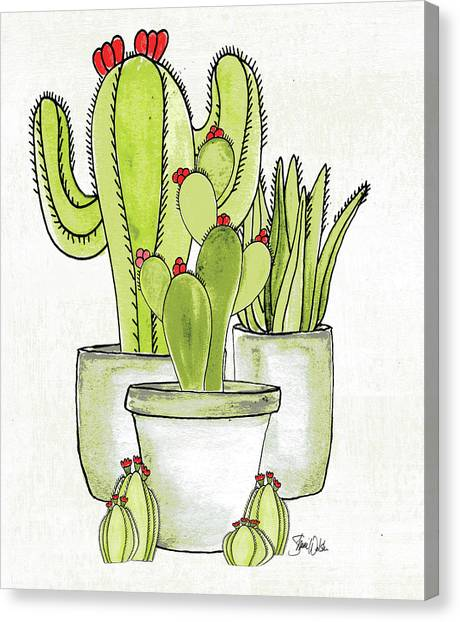 Succulent Canvas Print - Cactus I by Shanni Welsh