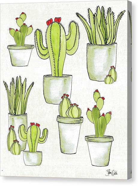 Succulent Canvas Print - Cactus II by Shanni Welsh